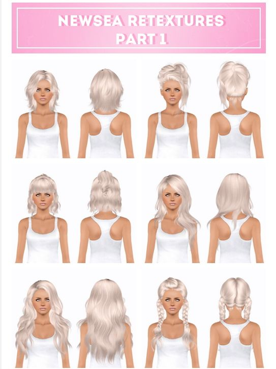 Newsea`s hairstyle part 1 retextured by Plumblobs for Sims 3 - Sims Hairs - http://simshairs.com/newseas-hairstyle-part-1-retextured-by-plumblobs/