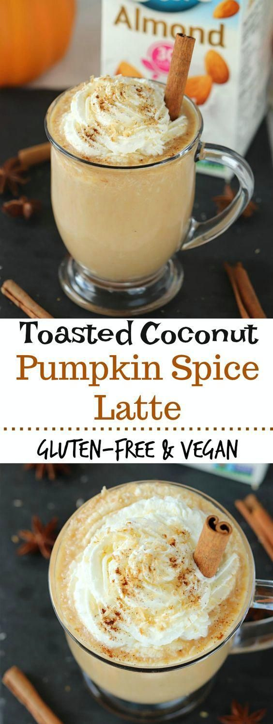 Toasted Coconut Pumpkin Spice Latte | Posted By: DebbieNet.com