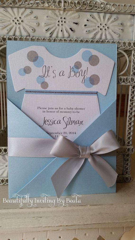 Plata y azul bebé con temas de bebé ducha por BeautifullyInviting