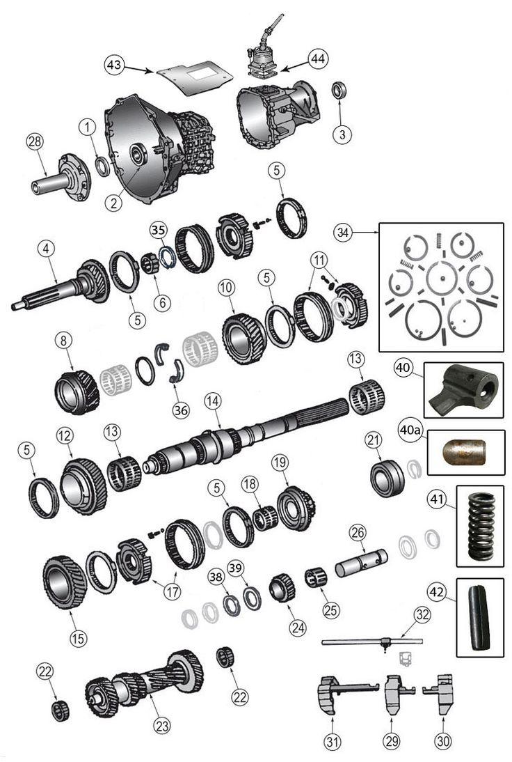 New Venture Gear NV3550 Transmission Parts for Wrangler TJ