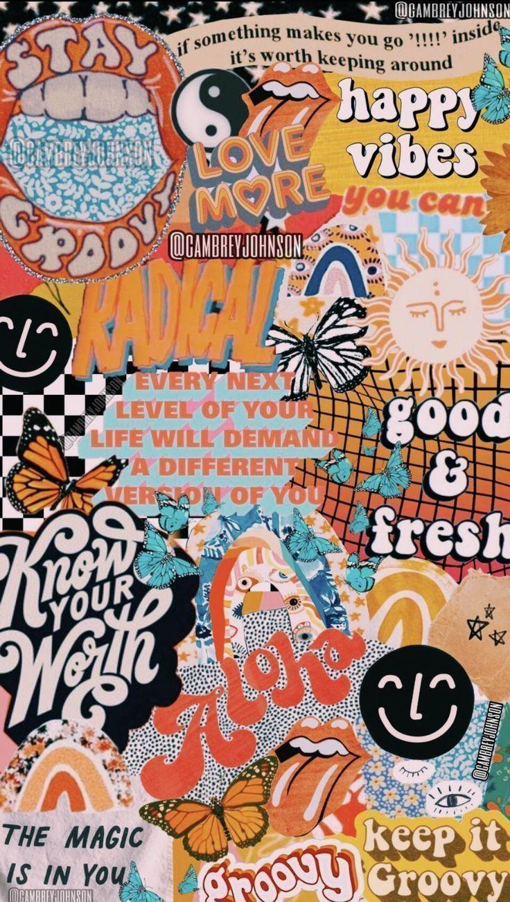 Aesthetic Wallpapers Aesthetic Wallpaper Kolase Dinding Seni Buku Dinding Gambar