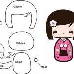 Patrón de niña japonesa