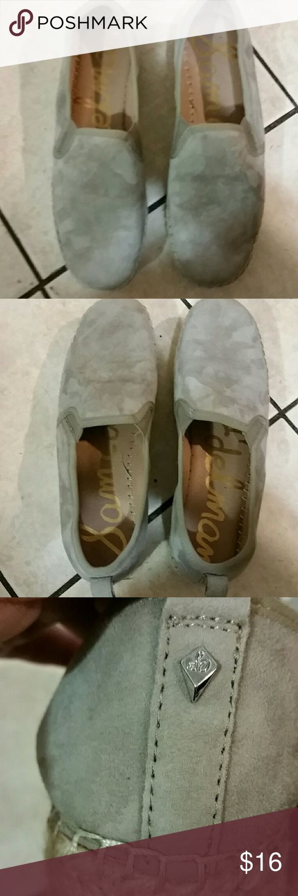 Sam elderman ladies shoes size 7.5 leather Awesome shoes great color goes with everything elastic up top clean inside only wore once suede and leather all in all excellent condition. sam elderman Shoes