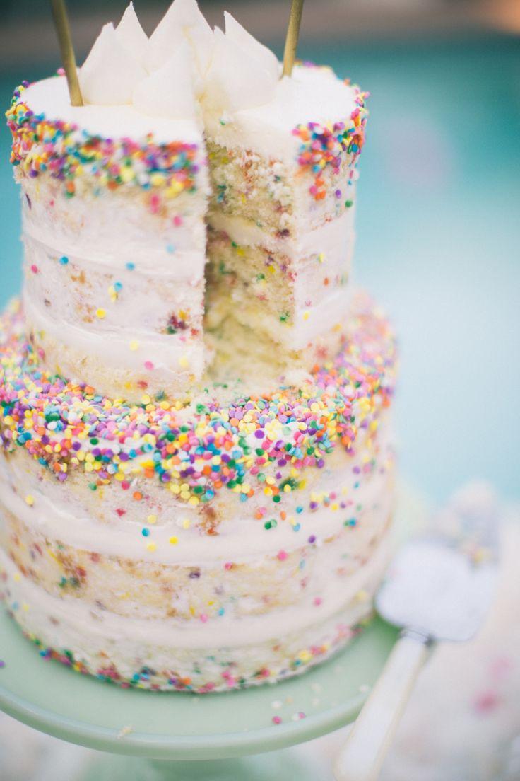 Best 20 Rainbow Sprinkle Cakes Ideas On Pinterest