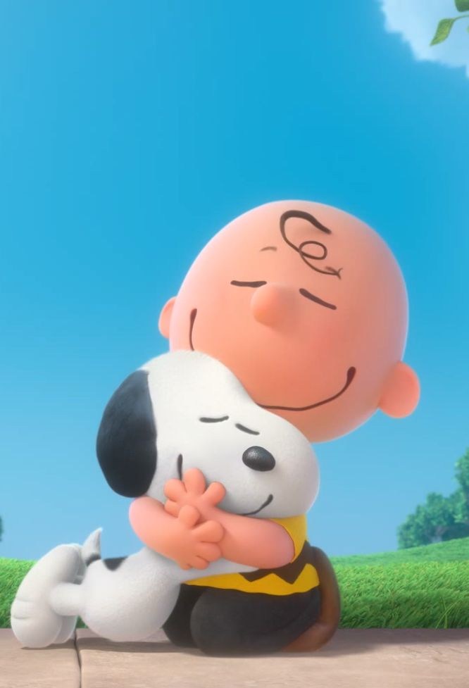 Snoopy abraço