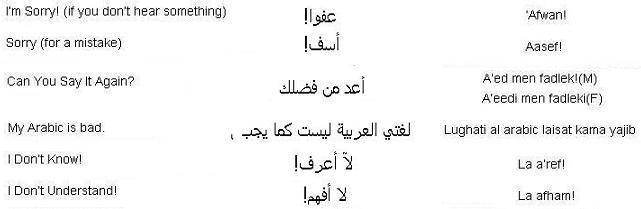 Correcting a misunderstandings in Arabic - Learn Arabic