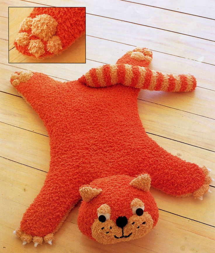 (27) A Knitting Pattern for a Cat Shaped Baby Rug Throws, rugs & cushio...