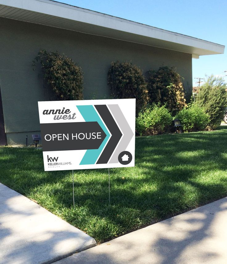 your sign today sale realtor open house yard sign arrows design