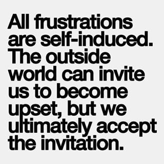 All frustrations are self-induced