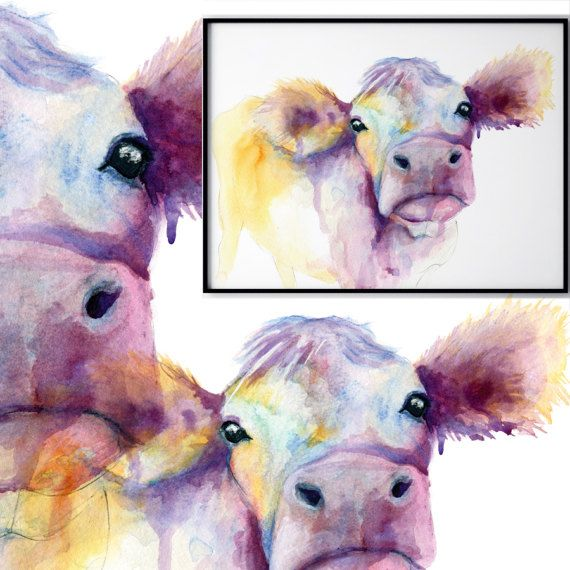 My Cute Cow painting will certainly brighten up any space! She's available to buy now form my etsy store