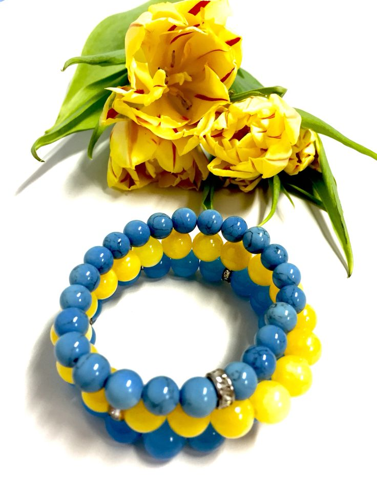 Blue and yellow jade & blue howlits  from #mylittlethings