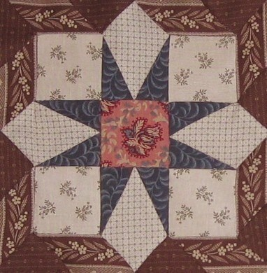 "Springfield block in ""1865, passion sampler"" quilt"