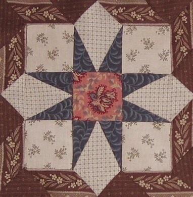 "Springfield  block in ""1865, passion sampler"" quilt"