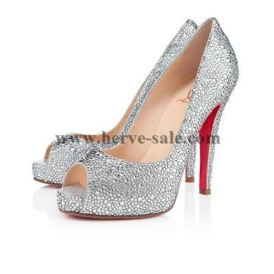 Christian Louboutin Very Riche Strass 120mm pumpt Kristall