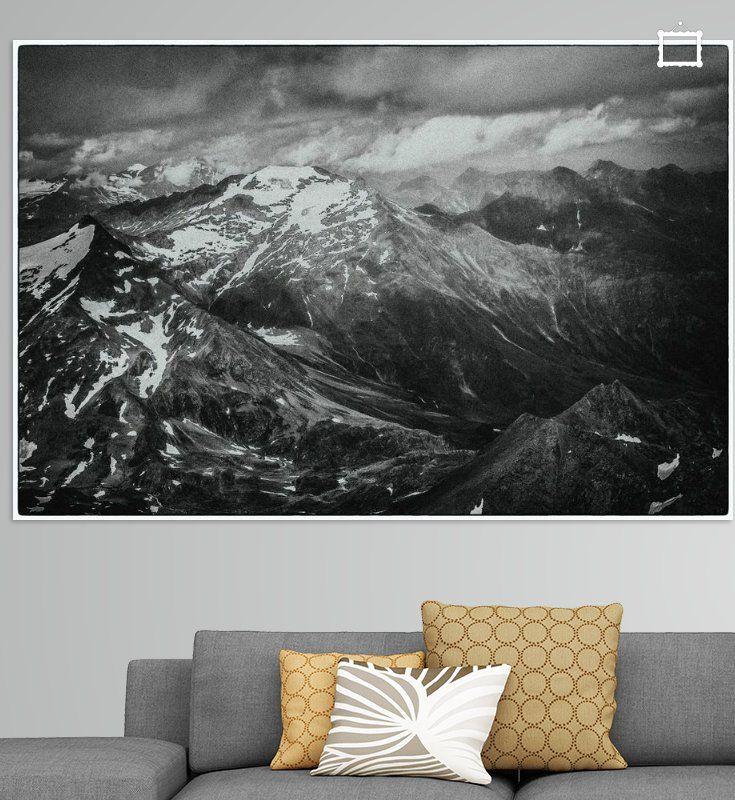 Alpen Kärnten zwart wit