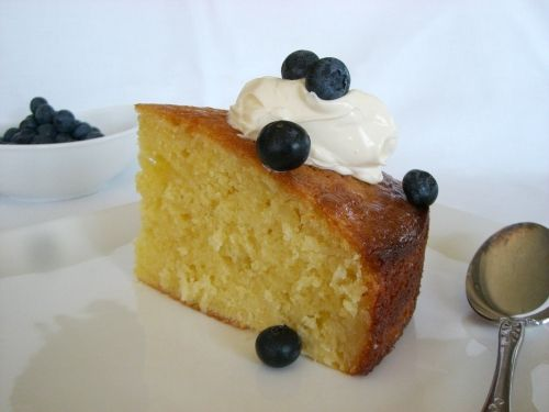 Lime, Sour Cream & Coconut Syrup cake