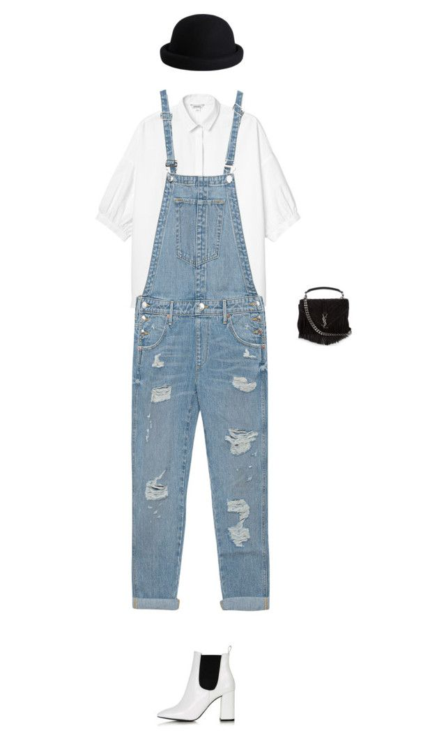 """""""Look: Rita Ora"""" by kediparcacigi ❤ liked on Polyvore featuring Monki, True Religion, Pieces, Yves Saint Laurent and Topshop"""