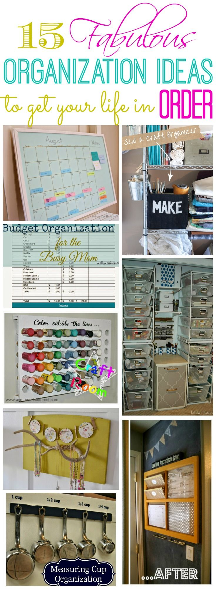 '15 Fabulous Organization Ideas to Get Your Life in Order...!' (via The Happy Housie)