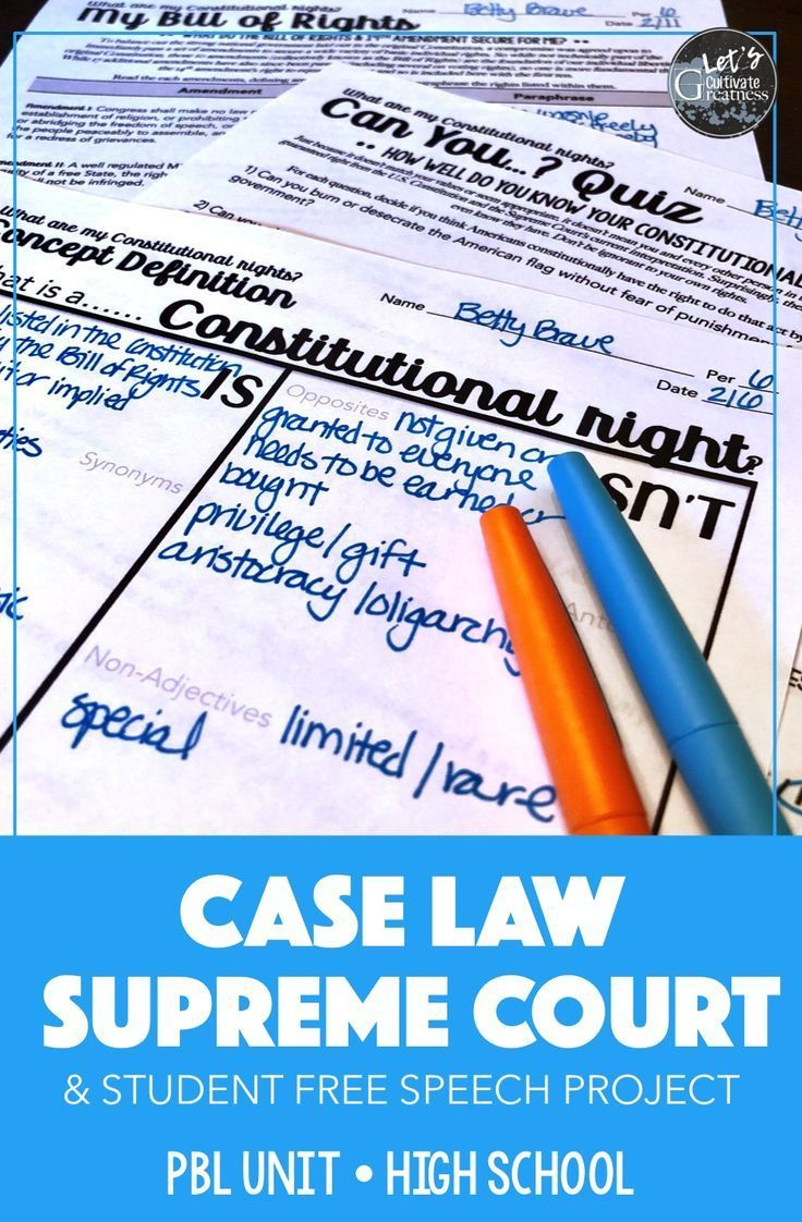 Pin On Civics Government Activity Ideas Lessons Supreme court case studies worksheets