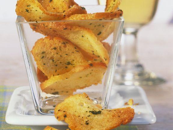Brotchips ist ein Rezept mit frischen Zutaten aus der Kategorie Kräuter. Probieren Sie dieses und weitere Rezepte von EAT SMARTER!