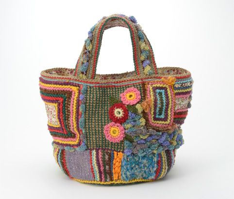 crochet knit purse