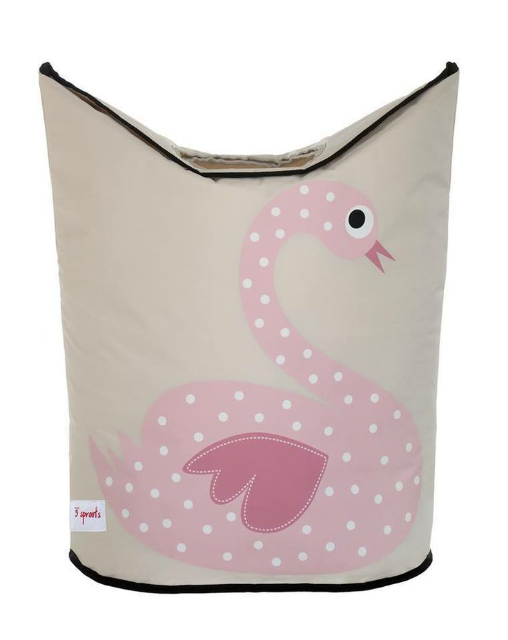 Machiko - a boutique for kids - Swan Laundry Hamper By 3 Sprouts, $44.95 (http://www.machikobaby.com.au/products/swan-laundry-hamper-by-3-sprouts.html)