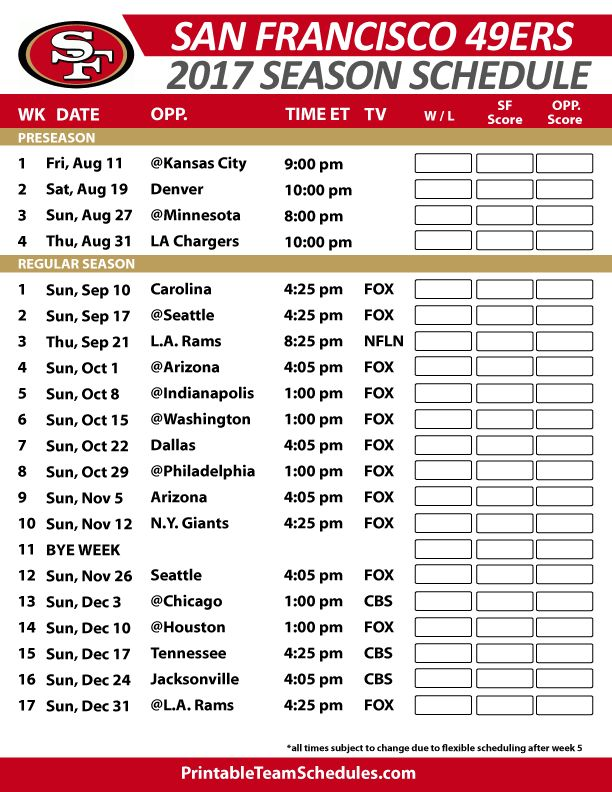 San Francisco 49ers Football Schedule 2017 https://www.fanprint.com/licenses/air-force-falcons?ref=5750 https://www.fanprint.com/licenses/akron-zips?ref=5750