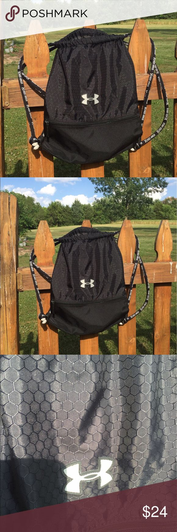 Under Armour Cinch Drawstring Bag Backpack Super gently preowned. Be sure to view the other items in our closet. We offer  women's, Mens and kids items in a variety of sizes. Bundle and save!! Thank you for viewing our item!! Under Armour Bags Backpacks