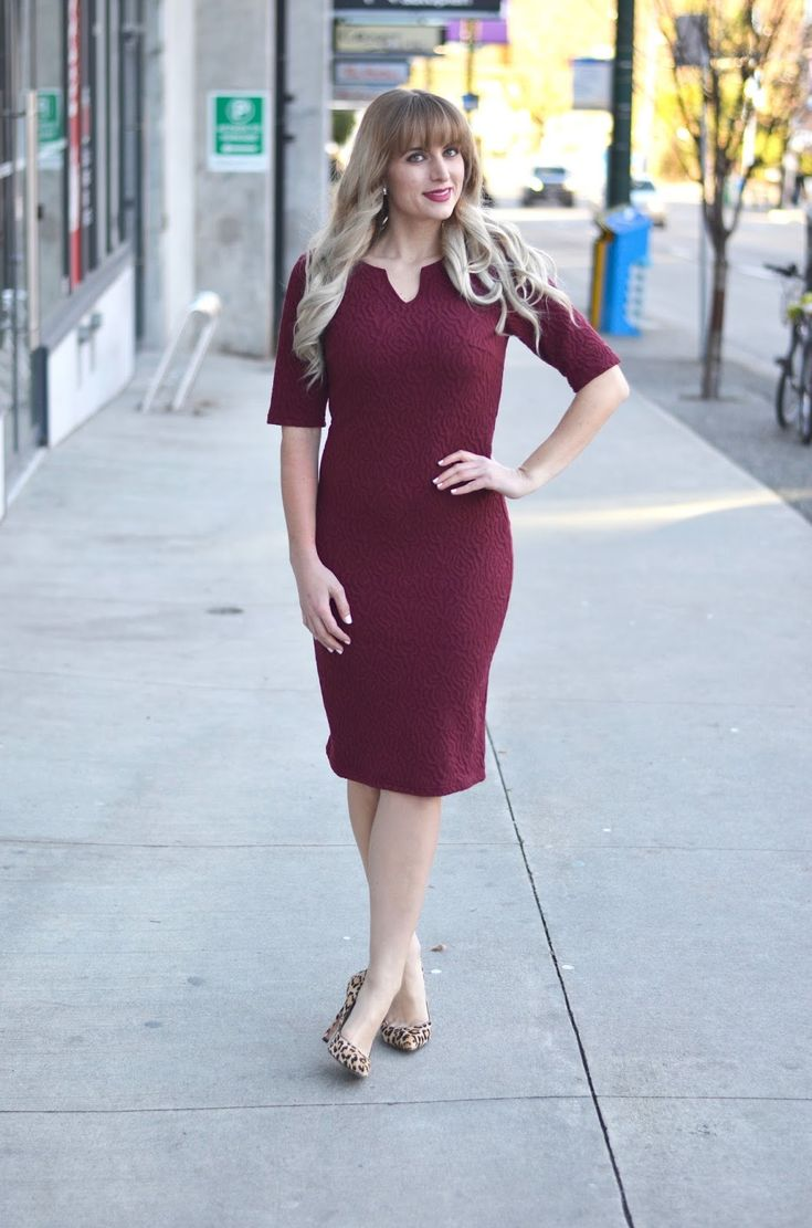 Burgundy U0026 Leopard Print | Wine Colored Dresses And Business Casual