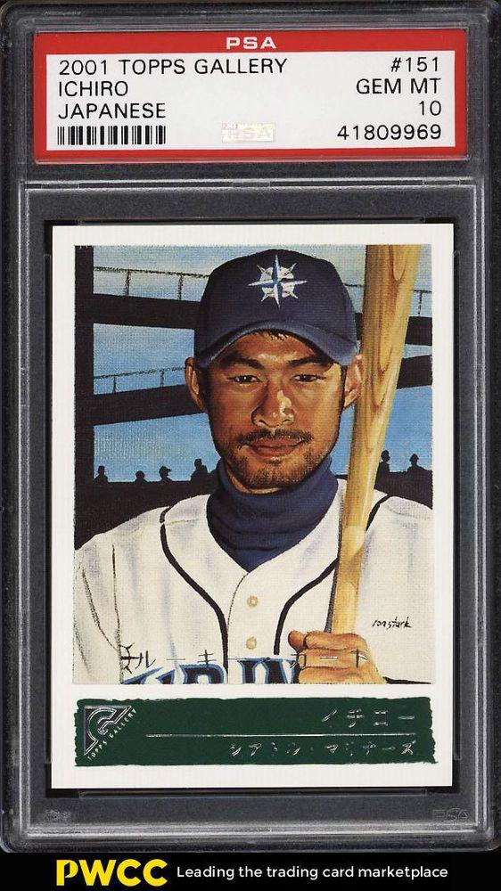 2001 Topps Gallery Japanese Ichiro Suzuki Rookie Rc 151 Psa