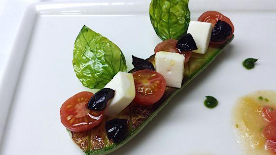 recette Pourcel Juin 2014 Courgettes tomates mozarelle olives noires