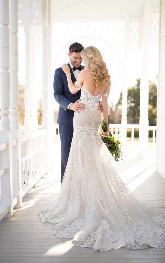 2179fad37ba Courtesy of Martina Liana wedding dresses 1012 Wedding Dress with  Handcrafted Lace by Martina Liana