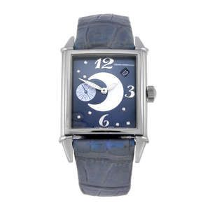 LOT:97 | GIRARD-PERREGAUX - a lady's stainless steel Vintage 1945 wrist watch.