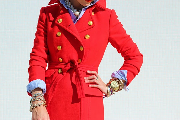 .: Arm Candy, Color, Red Jackets, Buttons, Jcrew, Fashion Bloggers, Trench Coats, Red Coats, Chambray