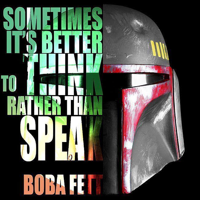 The best quote ever  Boba Fett is a genius  #starwars #bobafett #bestquote by starwarsarchive