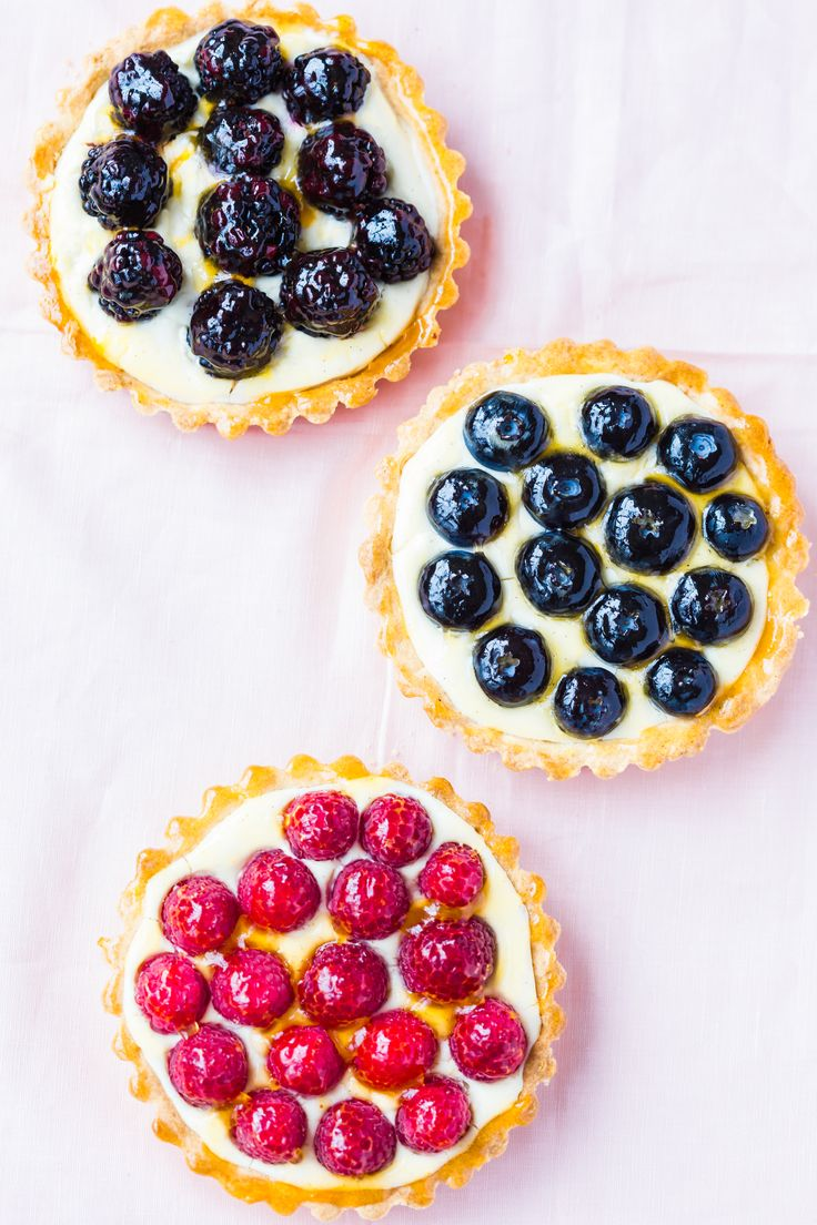 These fruit custard tarts are a real eye-catcher.