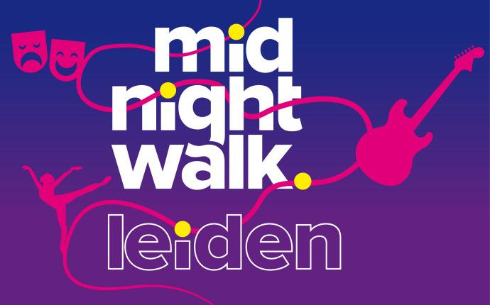 midnight walk leiden, visual identity / logo design, by daily milk