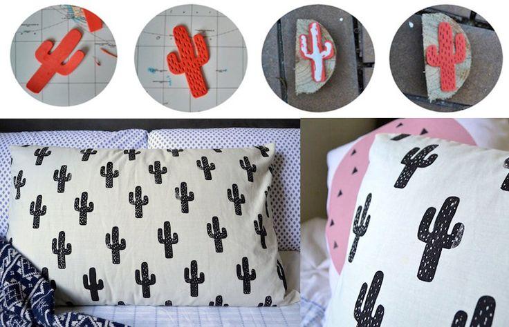 Tutorial: como fazer carimbos para estampar tecidos e papeis! - dcoracao.com - blog de decoração e tutorial diy