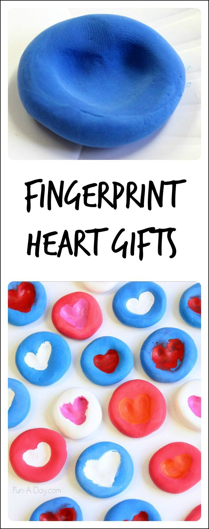 Fingerprint heart gifts kids can make - two different ways to try it out with the kids. They came out so beautiful! Great for birthdays, Valentine's Day, Mother's/Father's Day, etc!