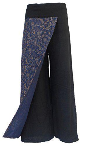 Bonya Women's Boho Cotton Casual Palazzo Pants - (Black5) Bonya Collections http://www.amazon.com/dp/B015M1LTTM/ref=cm_sw_r_pi_dp_d-PLwb1ESRVNA