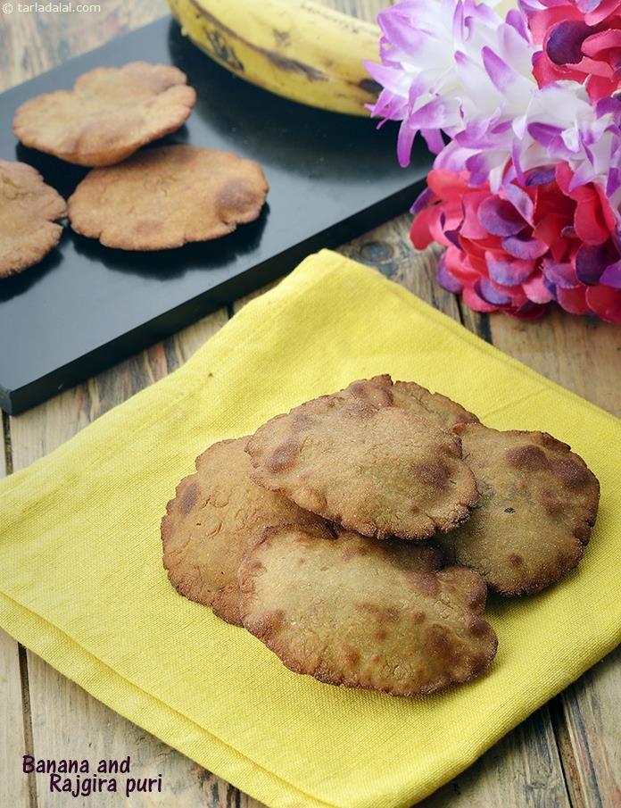 Banana and Rajgira Puri, Upvaas Recipe