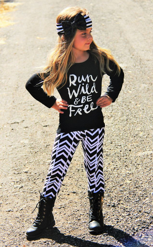 """""""Run Wild And Be Free"""" Boutique Set #boutique-outfits #daily-deals #leggings #new #newborn-clothing #newborn-sets #perfect-sets"""