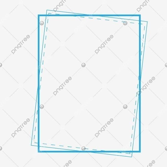 Blue Border Rectangle Clipart Blue Rectangle Png And Vector With Transparent Background For Free Download Border Clip Art Vector