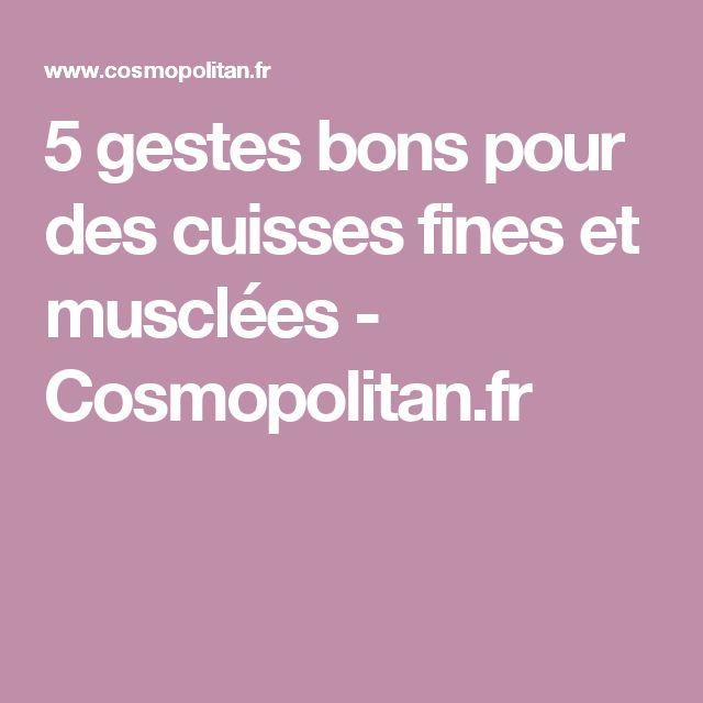 5 gestes bons pour des cuisses fines et musclées - Cosmopolitan.fr