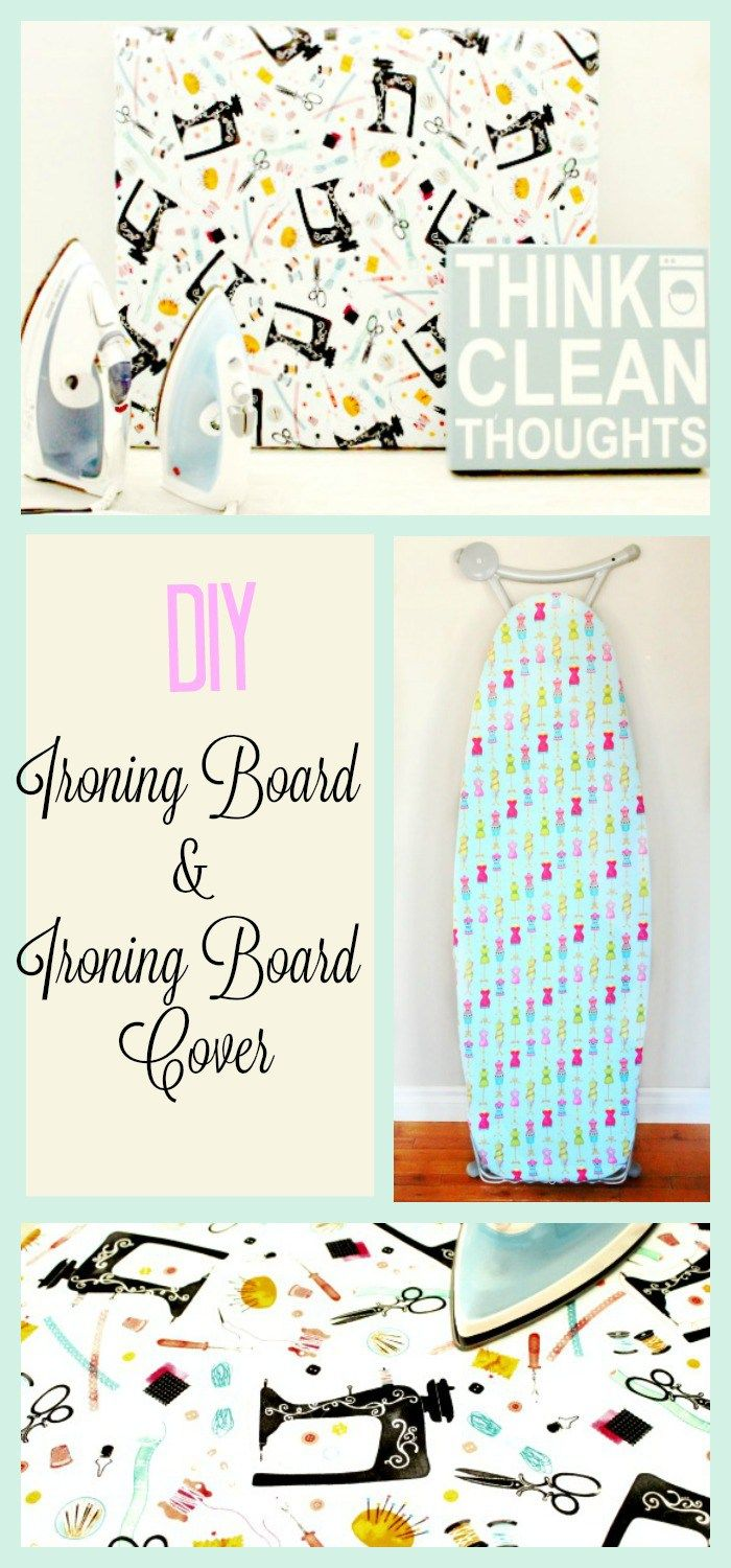 DIY Iron Board Cover, Ironing Board Cover, DIY, Pretty Ironing Board Cover. For more sewing patterns, sewing tips and sewing tutorials visit http://you-made-my-day.com/
