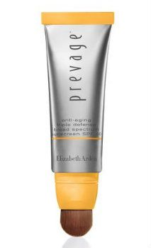 Elizabeth Arden PREVAGE® City Smart SPF 50 Hydrating Shield To prevent nano-particles of pollution from penetrating skin, Arden's new Hydrating Shield takes a three-step approach. First, it forms a barrier on the surface of the skin to keep both pollution and UV rays at bay. Next, the antioxidant Idebenone prevents damage and lastly, purified enzymes boost the skin's elastin and collagen matrix for smoother looking skin. - See more at…