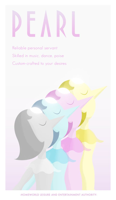 A Homeworld propaganda poster featuring Pearl from Steven Universe.