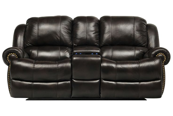 Capitol Power Dual Reclining Loveseat W/Console