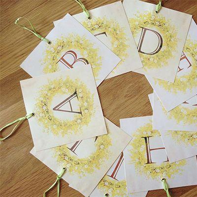 ★テンプレート★ミモザリース の画像|nico◡̈*blog 手作り結婚式