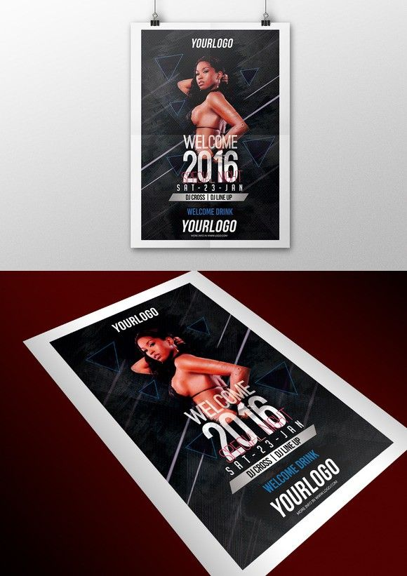 Welcom 2016 Flyer PSD. Flyer Templates. $10.00